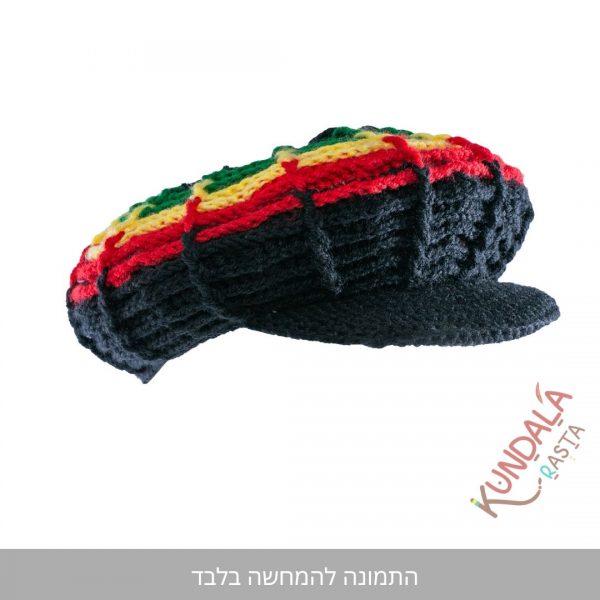 כובע גרב קסקט דגם שחור ראסטפארי